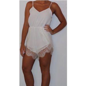Dresses & Skirts - Super cute white lace romper