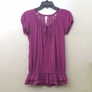 Belle Du Jour Tops - 💕2x HP! Purple back pattern top