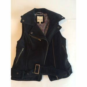 Heritage 1981 Jackets & Blazers - Heritage 1981 Belted Black Vest