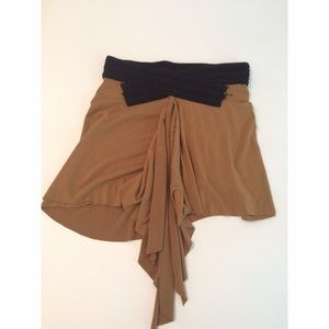 🆕Jersey Tan Ruffle Skirt by Tiffany Alana