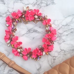 J. Crew Jewelry - J.crew Mardi Gras bright pink necklace