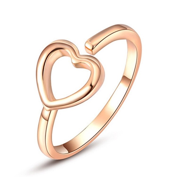 Rose Gold Hollow Heart Ring from ⭐ ✨top rated✨ s closet on