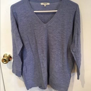 Madewell oversized v neck sweater size S