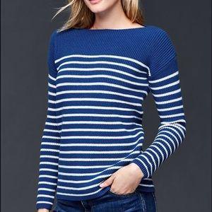 GAP blue and white stripe sweater