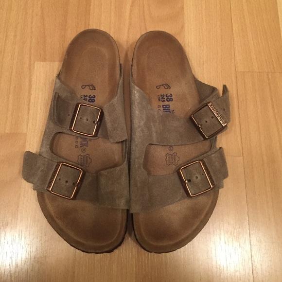 54bf826cdec5 Birkenstock Shoes - Light Tan Soft Leather Soft Footbed Birkenstocks