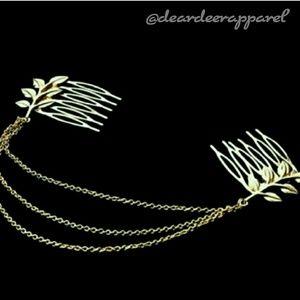 Accessories - Boho Draped Chain Hair Combs