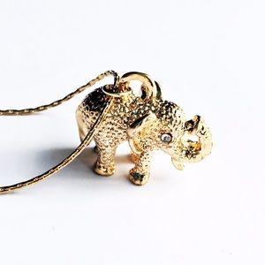 New York & Company Jewelry - NWT NY&Co Elephant Necklace
