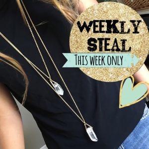 New York & Company Jewelry - NWT NY&Co Layered Crystal Necklace