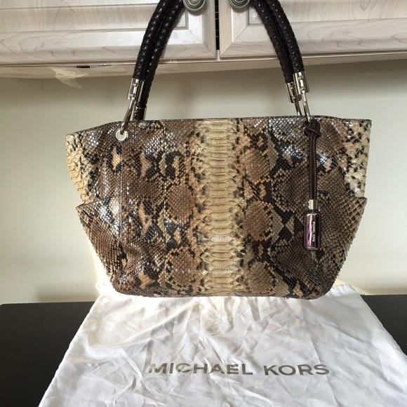 340056ae676 MICHAEL Michael Kors Bags | Michael Kors Skorpios East West Python ...