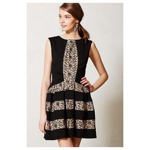 Anthropologie Laced Strata Dress