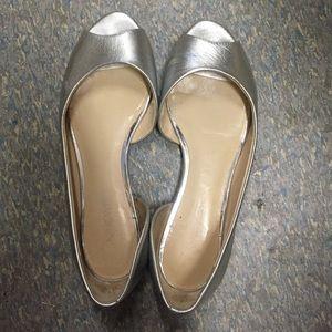 Any 3 for $20. Nine West peep toe flats 6