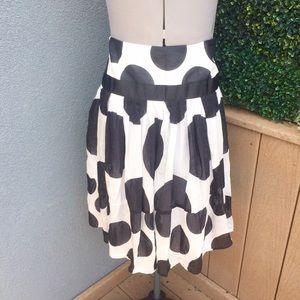 NWOT Zara Basic Polka Dot Ruffle Skirt