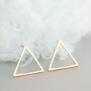 New Listing! Blushed Gold Open Triangle Earrings