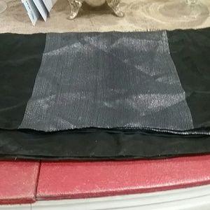 Black and silver metallic wrap.