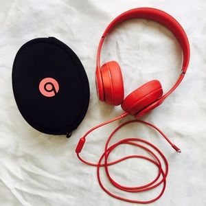 Other - red beats solo headphones