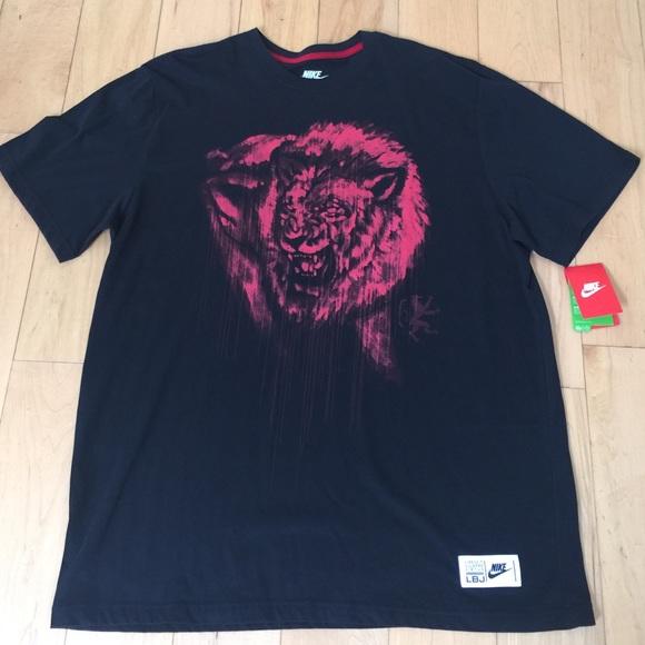 nike shirts nwt mens lebron james lion head tshirt poshmark