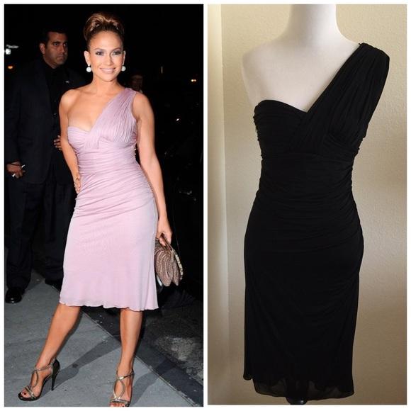 Versace Dresses Black Grecian One Shoulder Dress Poshmark