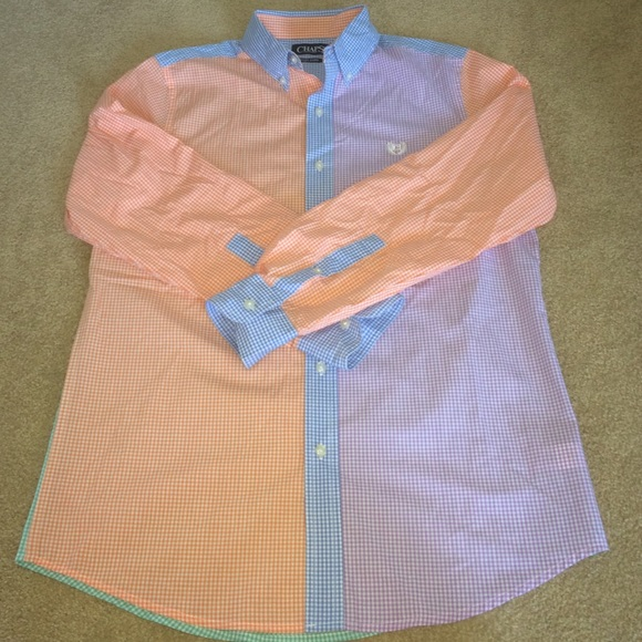 85% off Chaps Other - Chaps multi color long sleeve button down ...