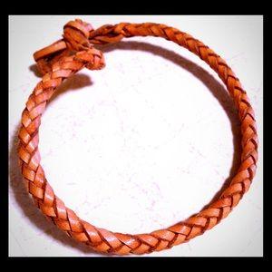 Jewelry - Custom!!! Leather braided bracket no clasp!