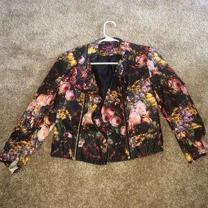 Flower designed blazer