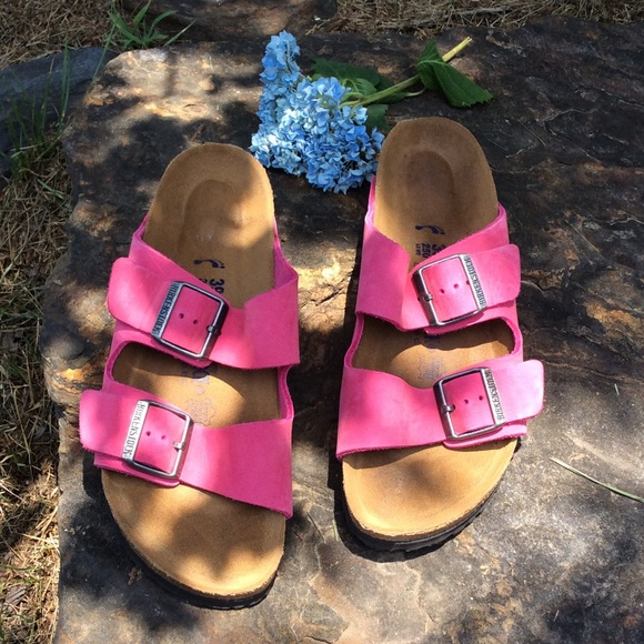 Birkenstock Arizona Pink Suede Sandals