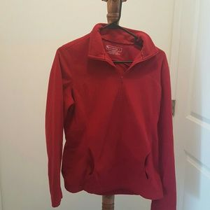 Red tek gear quarter zip