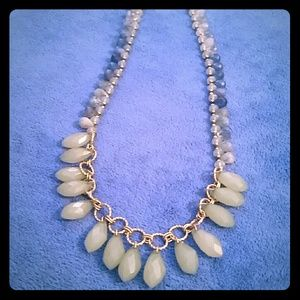 Loft, blue, beaded, long necklace