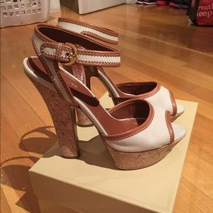 Sergio Rossi Shoes - New. Never worn. Sergio Rossi ankle strap heel.