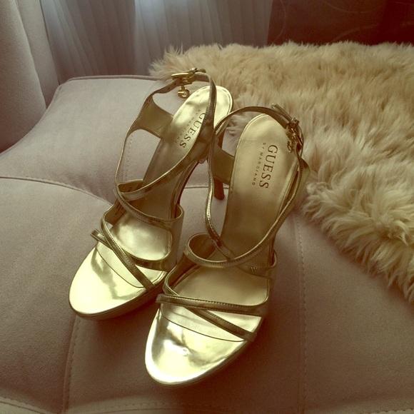 By Heels Poshmark Kltj31cf High Gold Guess Shoesstrappy Marciano I7yvb6gYf