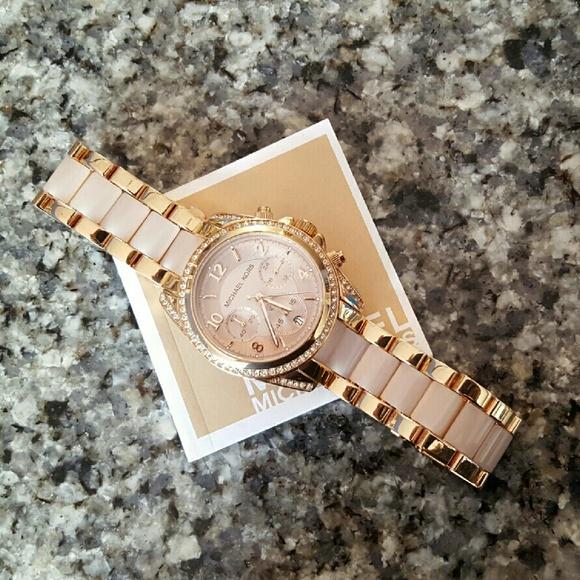 255f2882459 Michael Kors Blush MK Blair bracelet watch MK5943.  M 575080cf5c12f853b203d3f4