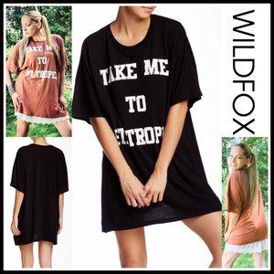 Wildfox Tops - ❗1-HOUR SALE❗ WILDFOX Tunic Tee Mini Dress Coverup