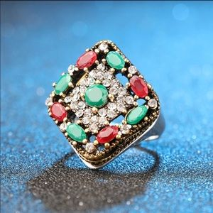 Jewelry - Gemstone Vintage Tibet Gold/Silver ring