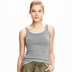 TALBOTS Gray Fitted Tank Top