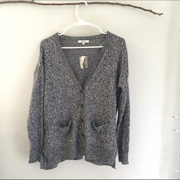 31% off Madewell Sweaters - Madewell Grey/Black Speckled Cardigan ...