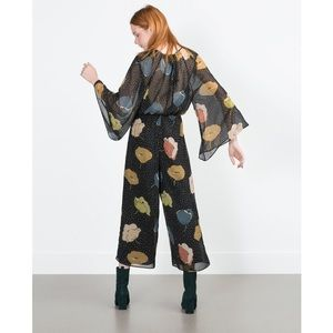 Zara Pants - [Zara]black loose-fit jumpsuit