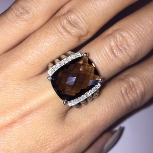 David Yurman Wheaton Ring Smokey Quartz