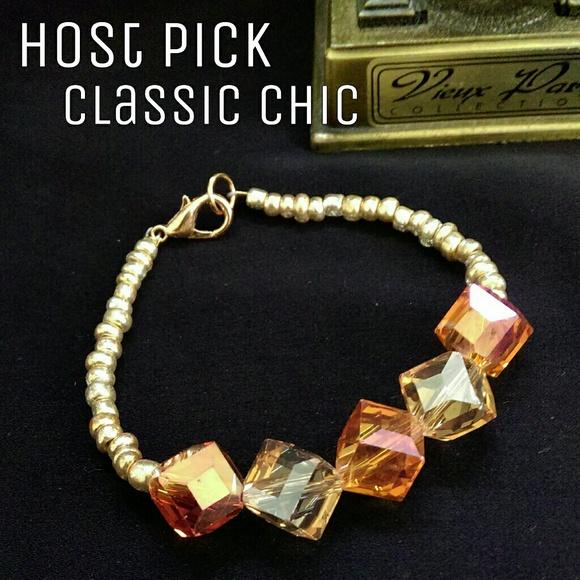 1eyed 1der designs Jewelry - Orange & Gold Bracelet