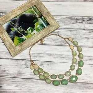 Duo Layer Necklace in Mint