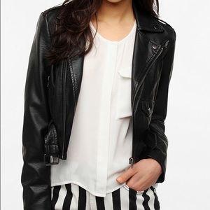 Sparkle & Fade Vegan Leather Moto Jacket