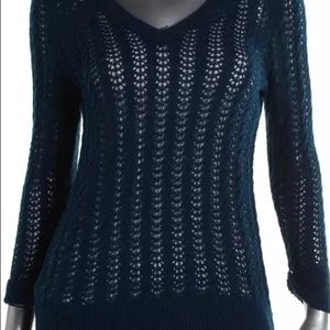 NY collection blue sweater L new