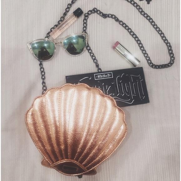 Nasty Gal Bags Skinny Dip Rose Gold Seashell Cross Body Purse Poshmark