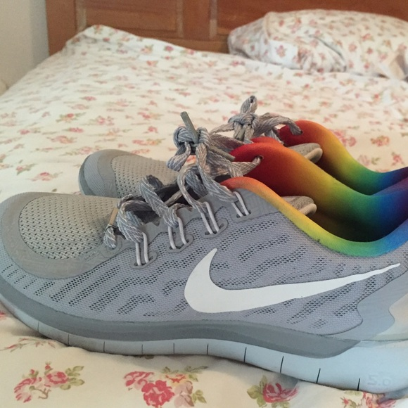 Nike Shoes - Nike grey rainbow running shoe 322c57da30e7