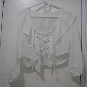 Urban Outfitters NWT Cute Ivory Crop Top