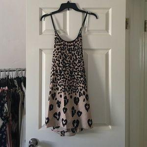 Naven Dresses & Skirts - Naven heart leopard print baby doll dress