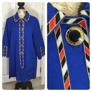 BOB MACKIE WEARABLE ART Royal Blue Coat