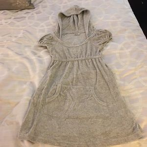 Betty B Other - Gray Terry Cloth Hooded Dress - Size S