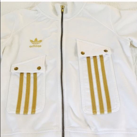 ecc25304dd13 Buy white and gold adidas jacket   OFF42% Discounted