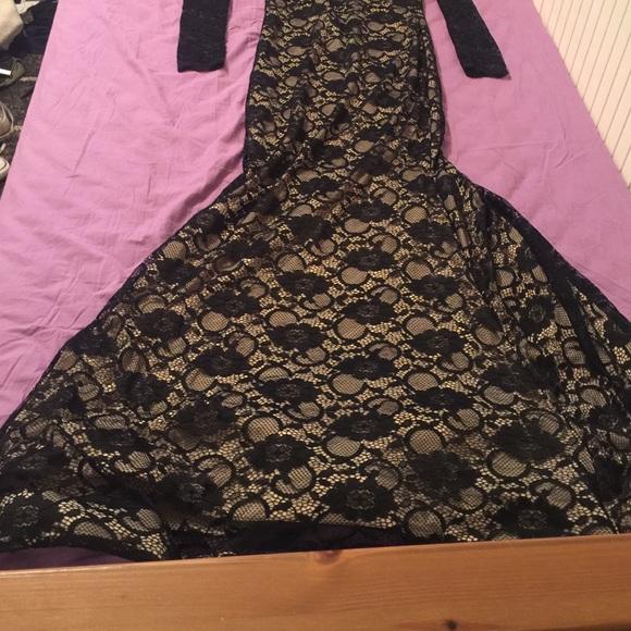 Black windsor mermaid dress