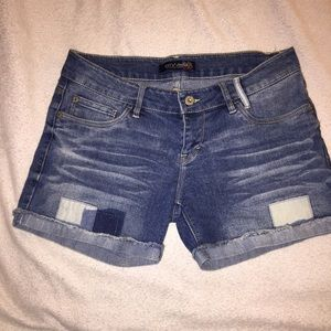 Levi's Denim Patchwork Cuffed Shorts