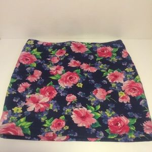 Body con floral print skirt